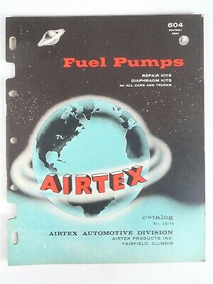 """1959 AIRTEX PRODUCTS Collectible Jobbers """"FUEL PUMPS"""" Vintage Catalog & Advert."""