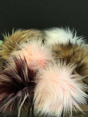 Faux Fur Pom Poms For Hats!!  14 beautiful colors available