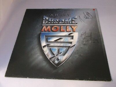 Chrome Molly:  Angst  orig  A1/B1  LP  FULLY SIGNED (small sticker on front)