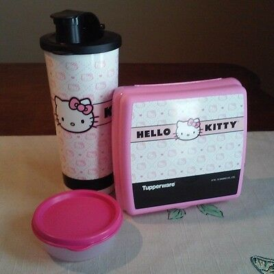 Tupperware NEW Hello KiTTy QUILTED  PINK  Sandwich keeper Tumbler MINI Snack CUP