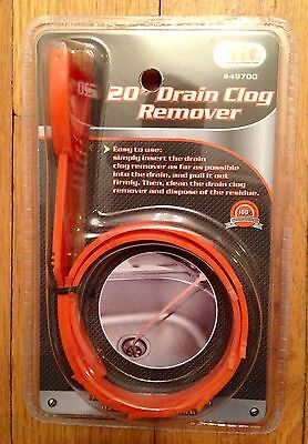 "20"" Drain Snake Clog Remover Sink Hair Tool Removal Cleaner NEW"