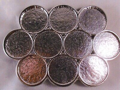 Vintage 1930's 1935 Buffalo Head Nickel 10 Coin Belt Buckle Cowboy Silver Color