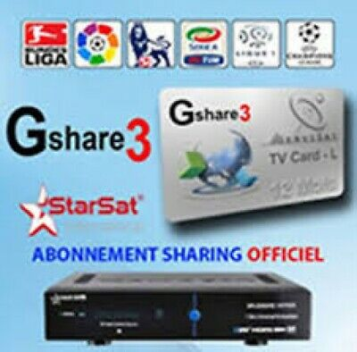 Recharge Gshare & FunCam Server 12 Mois Starsat Geant Pinacle bware PROMOTION €