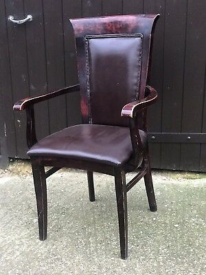Vintage Wooden Lovely Carver Desk Chair Armchair
