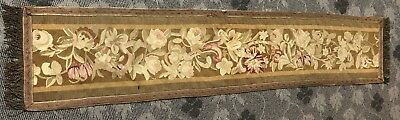 """Antique 18C Aubusson French Hand Woven Tapestry Rug  Panels Border 12""""X 65"""""""