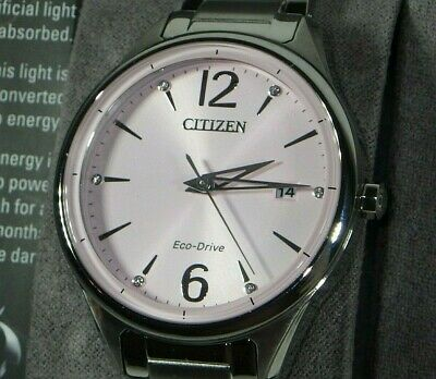 Citizen FE6100-59X Eco Drive Women's Pink Dial Stainless Steel Watch