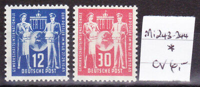 East Germany / GDR / DDR 1949 Mi. Nr. 243-244 Post Trade Union Confederation MH*