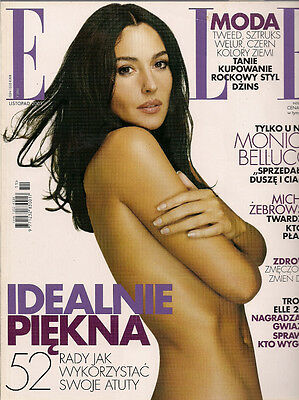 Elle 11/2001 front Monica Bellucci,in:Magdalena Mielcarz,Lydia Loison