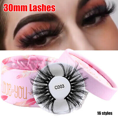 Cross Handmade False Eyelashes 3D Soft Mink Hair Eye Lash Extension 30mm Lashes