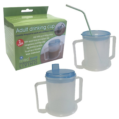 Drinking Aid Mobility Disability Elderly Parkinsons Non Spill Mug Cup Beaker