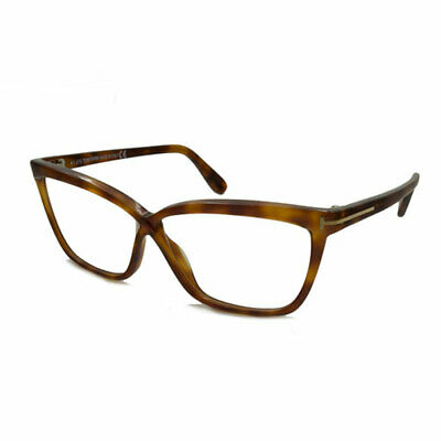 dc76df9f11 Tom Ford Womens Eyeglasses FT5267-053 Light Havana Brown Cat-Eye Frames