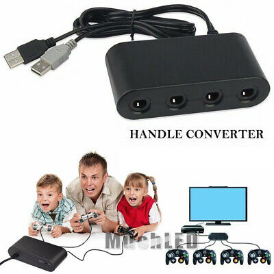 4 Port Game cube NGC Controller Adapter For Nintendo Wii U & Switch and PC USB