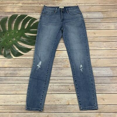 67486887fc45 Modcloth Distressed Skinny Jeans Size S New Light Wash Stretch Ripped Torn