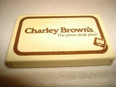 Rare Vintage Matches Match Box Charley Brown's Steak Place California Original!