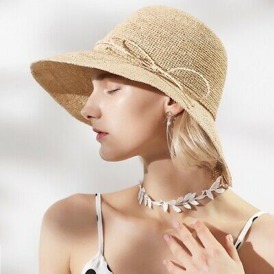 c3aa1956c16e0 Lady Women New Summer Wide Brim Raffia Hat Outdoor UV Protection Straw  Beach Hat