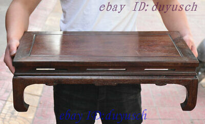 "24"" Old Chinese Huanghuali Wood handcrafted Furniture table Desk Tables Statue"