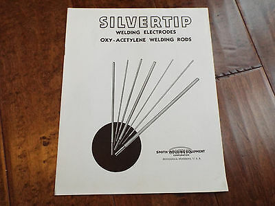Vintage 1941 SMITH Silvertip Welding Electrodes Tool Catalog Price Product Guide