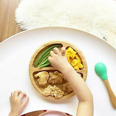 Baby Suction Bowl And Matching Spoon Set Stay Put Feeding Bowl Bamboo