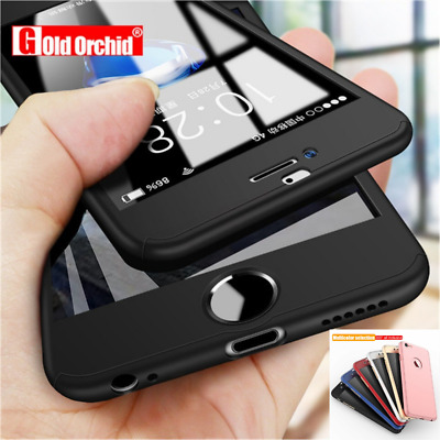 360 Shockproof Full Tempered Glass Case Cover iPhone X Xs Max XR 8 6 7 Plus 5 5s