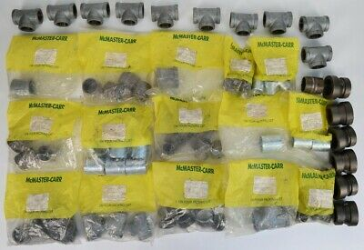 Mixed Lot of 82 Various McMaster-Carr Pipe Fittings, Connectors & Nipples