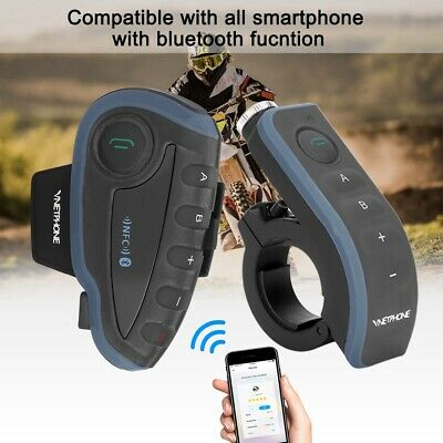 1,2 km Bluetooth Motorrad Intercom Headset Helm Gegensprechanlage Intercom V8