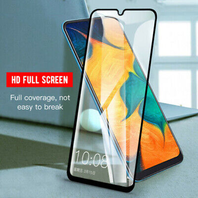 For Samsung Galaxy A40 A50 A70 M30 Tempered Glass Full Screen Protect Film Black