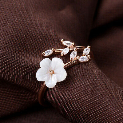 Women Fashion Silver Plated Adjustable Green Leaves Tree Branch Open Wrap Ring