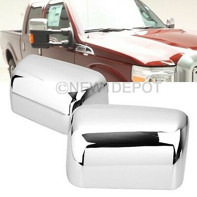 Chrome Top Half Side Mirror Cover Trim for Ford F250 F350 Super Duty 2008-16 ND