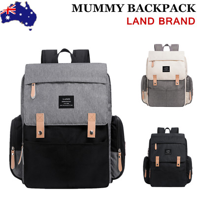 GENUINE LAND Multifunctional Baby Nappy Diaper Backpack Changing Bag Mummy AU
