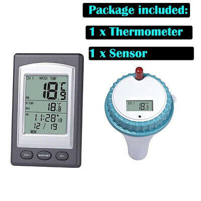Wireless Remote Floating Thermometer Swimming Pool Hot Tub Pond Spa Waterproof Z