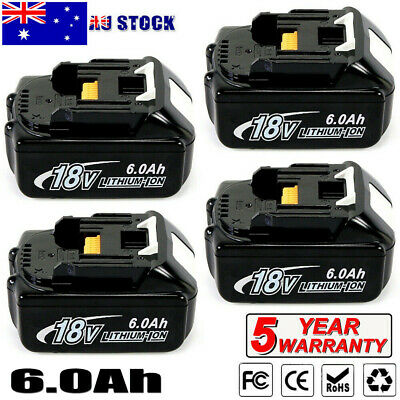 6.0AH 18V Lithium Ion Battery for Makita BL1830 BL1845 BL1860 LXT400 BL1840 Tool
