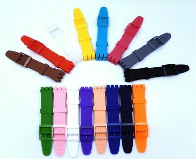 Wrist Watch Band Strap Swatch 16mm 17mm 19mm 20mm Rubber Silicone Watchband Brac