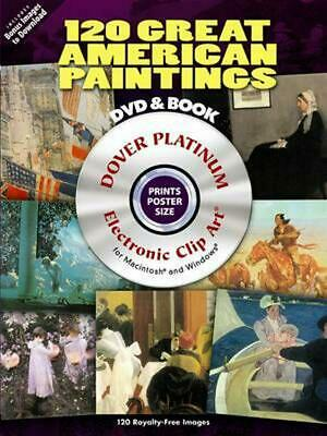 120 Great American Paintings [With DVD] by Dover (English) Paperback Book Free S
