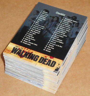 Walking Dead Season 1 ~ Completo 81-card Base Juego (Tarjetas, 2011)