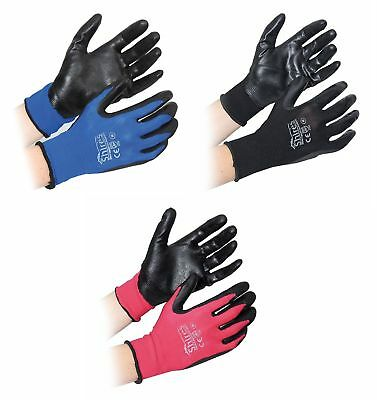 Shires All Purpose Yard Gloves Assorted Size Black, Pink, Royal Blue (1049)
