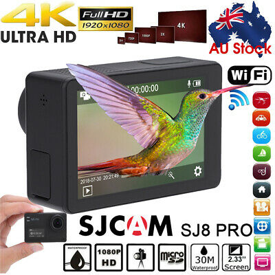 CLERANCE SJCAM SJ8 Pro DVR Video Action Sport Camera 4K 12MP WIFI Waterproof Cam