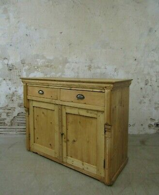 Vintage Pine French Sideboard, Antique