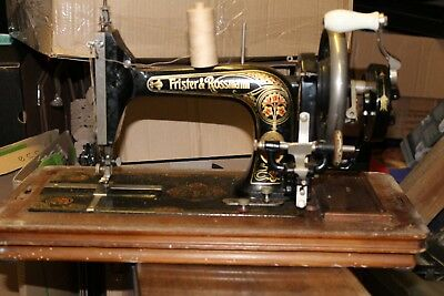 Antique Frister And Rossmann Sewing Machine (Hand Crank)