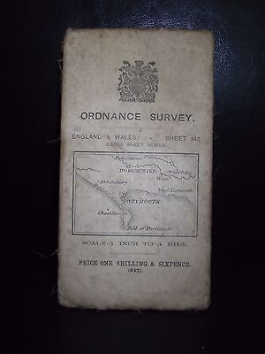 Vintage Ordnance Survey 143 Of Dorchester And Weymouth 1908 (Paper)