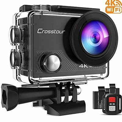 Crosstour Action Camera 4K 16MP Wifi Underwater 30M with Remote Control IP68 Wat