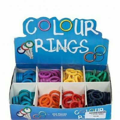 Round Colour Key Cap Covers Tags Id Markers Keyring Mixed Colours Rings