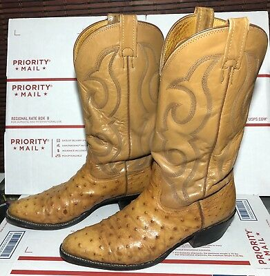 5ef558ac045 VINTAGE NOCONA USA Full Quill Exotic Ostrich Leather Cowboy Western Boots  10 B