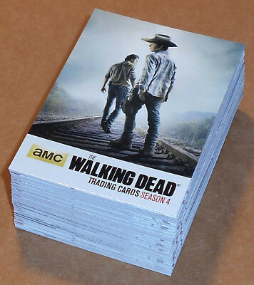 Walking Dead Temporada 4 Parte 1 ~ Completo 72-card Base Juego