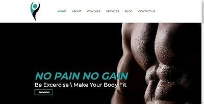 Ready Made Website for Sale - Fitness Website