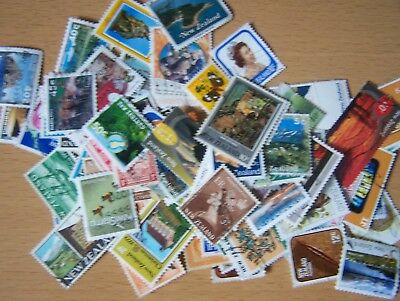100 Different New Zealand,Many Commems,Used & U/Mint,Excellent.