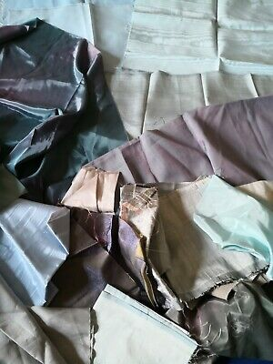 """""""STASH"""" of  LUXURY FABRIC PIECES for TEXTILE ART - PASTEL SHADES"""