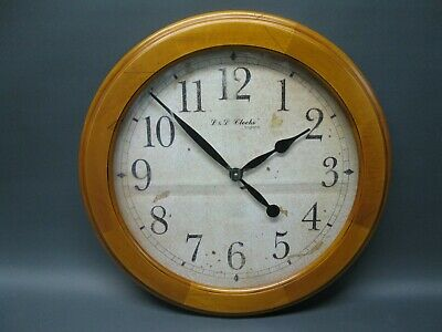 Large Wood Wooden Wall Clock 51 cm Nostalgic Clock