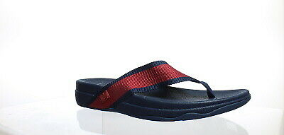 25374bf7d966 FitFlop Mens Surfer Ff Red Midnight Navy Flip Flops Size 12 (165294)