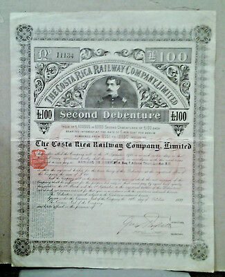 Action The Costa Rica Railway Compagy Limited 1889