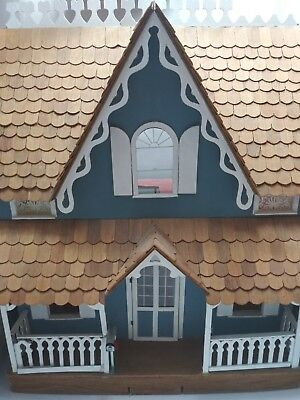 vintage  Victorian Dollhouse Wood Doll House Cottage Building fixer-a- upper